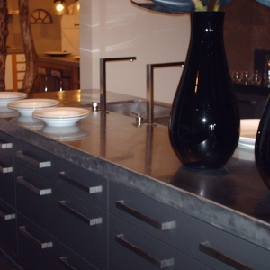 Keuken RVS aanrechtblad