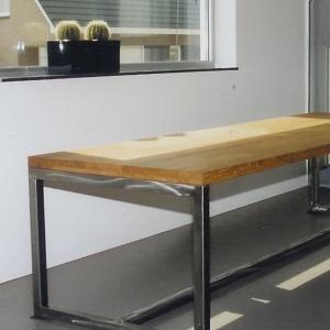 Tafel modern hout RVS